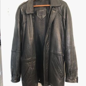 Mens Andrew Marc Leather Coat
